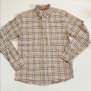 Uniqlo red and blue checkered flannel shirt medium